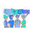 team brainstorm idea generation vector image