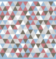 triangle pattern with retro and fashion concept vector image vector image