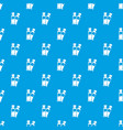 tube paint pattern seamless blue vector image vector image