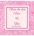 Wedding invitation flowers background pink vector image vector image