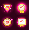 anniversary 40 icons set vector image