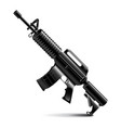 Automatic weapon isolated on white vector image