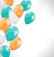 Multicolored inflatable air balls on grayscale vector image