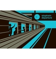 platform railway station vector image