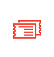 tickets icon on white vector image