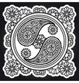 Black and white yin-yang sign vector image