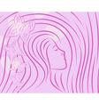 pretty girls sketch vector image