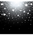 Abstract creative christmas falling snow isolated vector image vector image