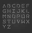 alphabet design set-Minimalist style vector image vector image