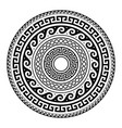 ancient greek round key pattern - meander art vector image