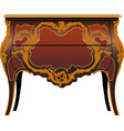 antique furniture secretaire vector image