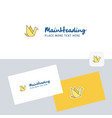 bird logotype with business card template elegant vector image vector image