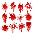 blood blots set vector image
