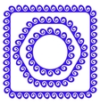 Blue Ornamental Frames vector image vector image