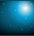 bokeh blue background vector image vector image