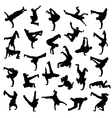 Break Dance silhouettes vector image vector image