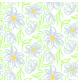 chamomile flower hand drawn blue seamless vector image