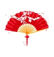 Chinese symbols fan vector image vector image