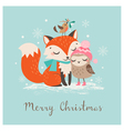 Christmas fox and owl