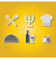 color icons with restaurant symbols vector image