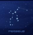 constellation perseus hero night star sky vector image vector image