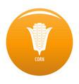 corn icon orange vector image