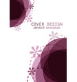 cover template design with violet circlea1 vector image vector image