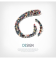 design people sign 3d vector image vector image