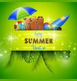 enjoy summer vocation vector image vector image