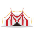 flat of a circus tent vector image
