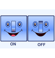 funny electric switch vector image