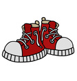 Funny red sneakers vector image vector image