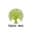 Green tree circle icon vector image vector image