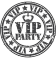 Grunge vip party rubber stamp vector image vector image