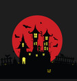 halloween with castle and pumping color vector image