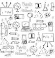 Hand draw object school doodles vector image