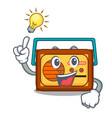 have an idea radio mascot cartoon style vector image vector image