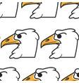 hawk or eagle bird american symbol seamless vector image vector image