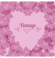 Heart form vintage flower frame vector image