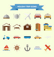 holiday trip icons vector image
