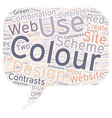 How to choose colours for a website text vector image vector image