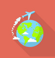 international air tour icon flat style vector image
