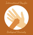 international day for biological diversity a man vector image vector image