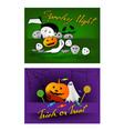 jack-o-lantern and evil on halloween party backgr vector image vector image