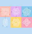 labyrinth game maze conundrum way vector image vector image