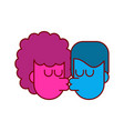love kiss guy and girl isolated lovers kissing vector image vector image