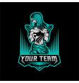 man gun gaming logo vector image vector image