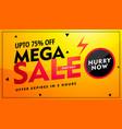 Mega sale offer and discount banner design in