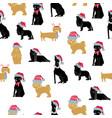 merry christmas dog seamless vector image