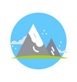 mountains icon active tourism travel and adventure vector image vector image